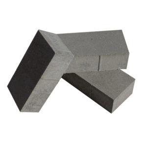 Тротуарная плитка без верхней фаски Кирпичик 8 серый.